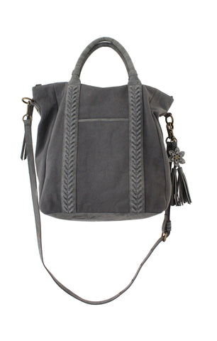 ZARGOZA CANVAS TOTE IN EBONY