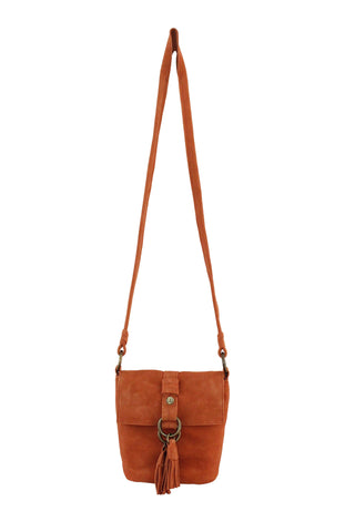WILDLEDER CROSSBODY IN PERSIMMON
