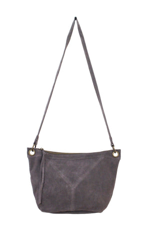 Wildleder East to West Crossbody in Pebble