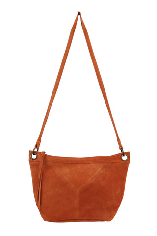 WILDLEDER EAST TO WEST CROSSBODY IN PERSIMMON
