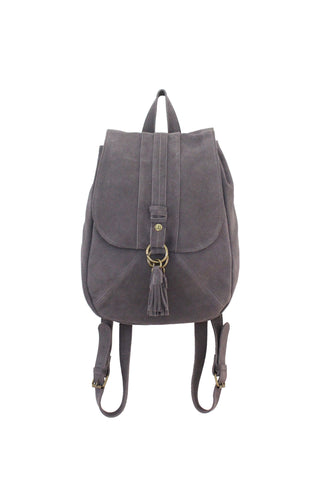 Wildleder Backpack in Pebble