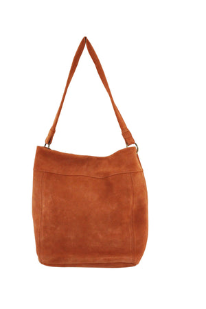 Wildleder Hobo in Persimmon