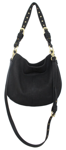LOST HIGHWAY CROSSBODY HOBO IN BLACK