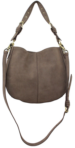 LOST HIGHWAY CROSSBODY HOBO IN PEWTER