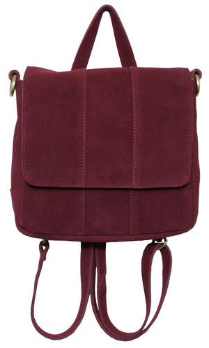 Alamo Convertible Backpack in Berry