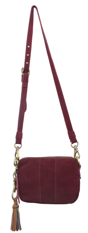 Alamo Crossbody in Berry