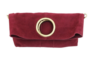 Alamo Foldover Crossbody in Berry