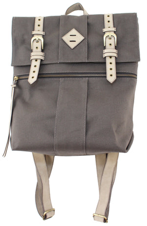 Lost Highway Canvas Backpack in Pewter