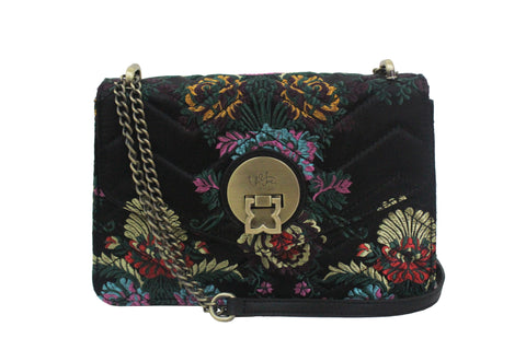 FLORAISON CROSS BODY IN GRAPHITE