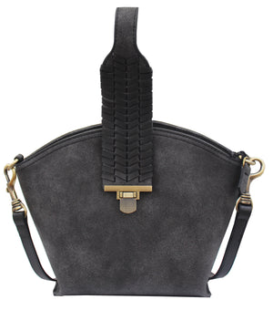 Marquesas Concha Crossbody in Charcoal