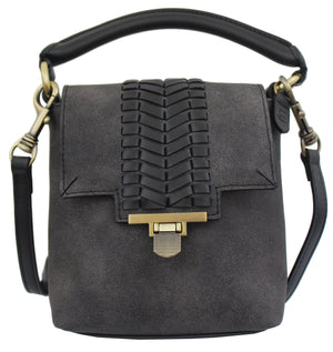 Marquesas Mini Satchel in Charcoal