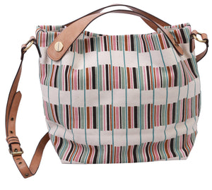 Waimea Bay Canvas Tote in Stripes