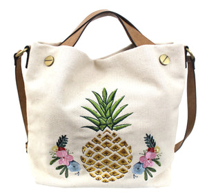 Waimea Bay Canvas Tote in Pineapple