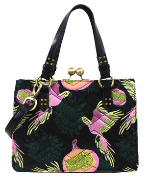 Waimea Bay Kiss Lock Satchel in Passionfruit