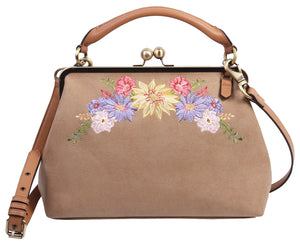 Painted Desert Frame Satchel in Dust