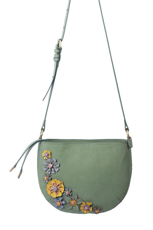 Painted Desert Crescent Crossbody in Sage
