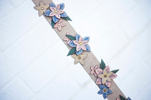 3D Floral Guitar Strap in Birch
