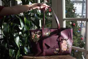 Floraison Tote in Mulberry