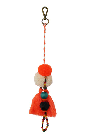 Pom Pom Charm in Orange