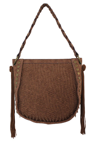 Baja Round Hobo in Twig