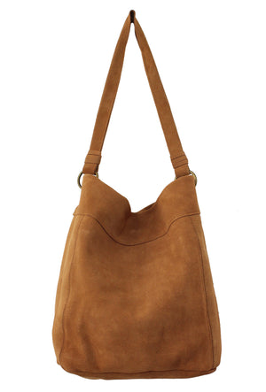 Wildleder Hobo in Cognac