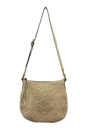 Amarillo Crossbody Hobo in Sandstone