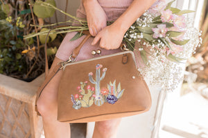Painted Desert Frame Satchel in Clay
