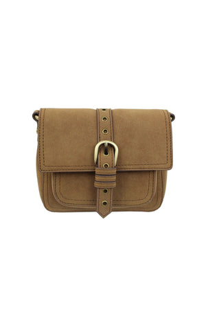 Lost Highway Buckle Crossbody in Antique Oak