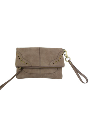 LOST HIGHWAY FOLDOVER CROSSBODY IN PEWTER