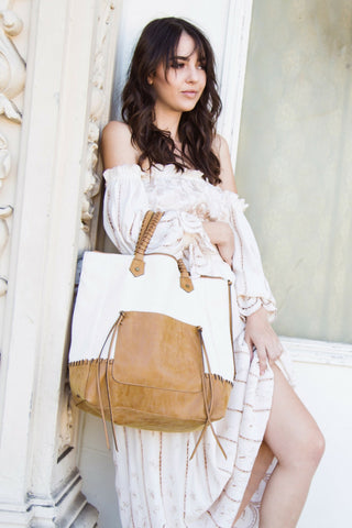 Madrid Tote in Sand