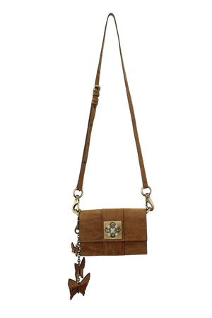 Parisian Nights Mini Crossbody in Knotty Oak