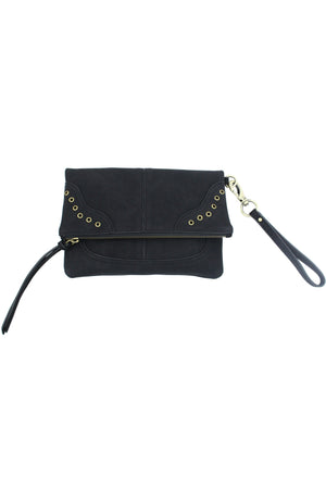 Lost Highway Foldover Wristlet in Black