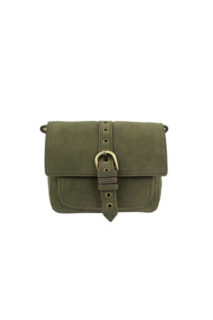 Lost Highway Buckle Crossbody in Loden