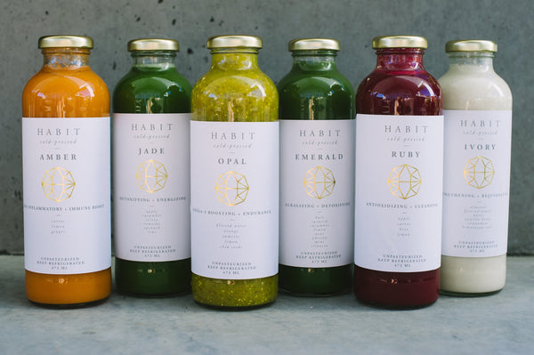 The Habit Project's 1 day or 3 day juice cleanse