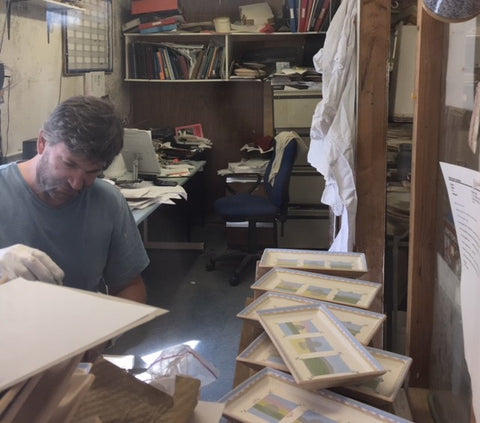 Michael Holden at work in Nicholas Mosse Pottery