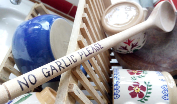Lifestyle image for blog no garlic spoon please Nicholas Mosse Pottery