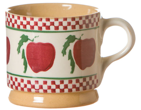 Nicholas Mosse Small Mug Apple spongeware pottery by Nicholas Mosse Pottery - Ireland - Handmade Irish Craft