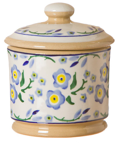 Lidded Sugar Bowl Forget Me Not