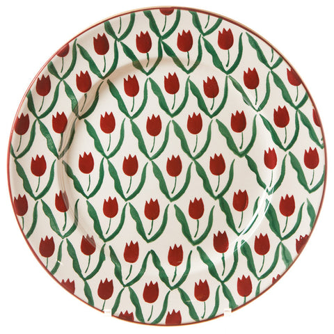 SERVING PLATE RED TULIP