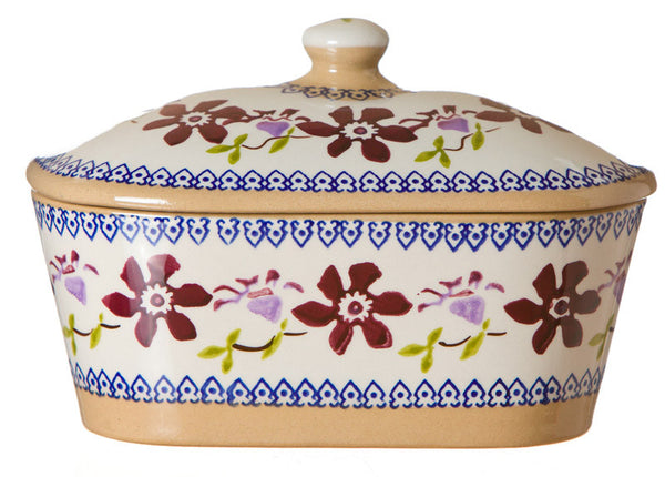 Nicholas Mosse Covered Butterdish Clematis