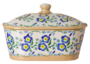 Nicholas Mosse Covered Butterdish Forget Me Not
