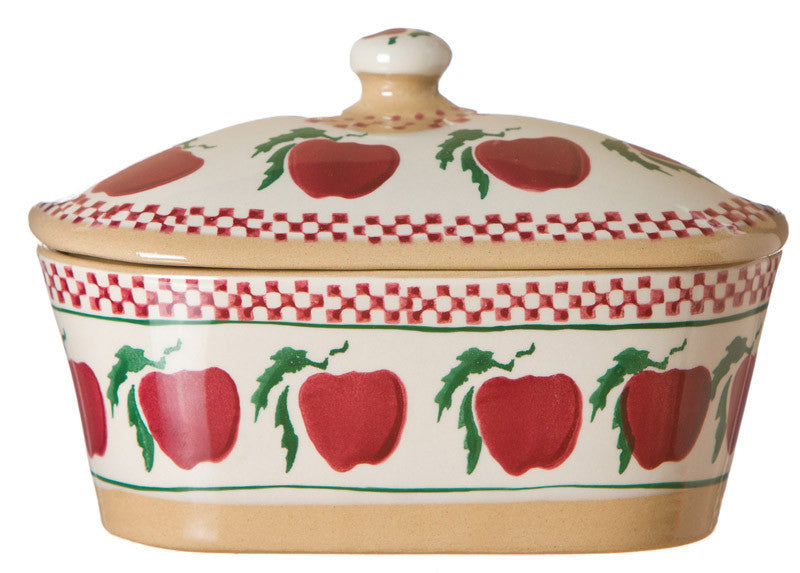 Nicholas Mosse Covered Butterdish Apple