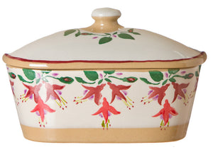 Nicholas Mosse Covered Butterdish Fuchsia