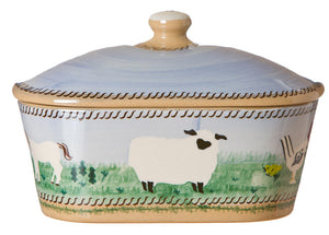 Nicholas Mosse Covered Butterdish Assorted Animals