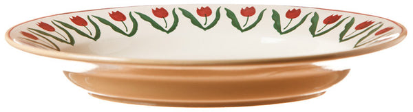 SMALL OVAL SERVING DISH RED TULIP