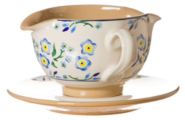 GRAVY BOAT AND SAUCER FORGET ME NOT