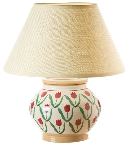 "Nicholas Mosse 5"" Lamp Red Tulip Base Only (Eu fitting only)"