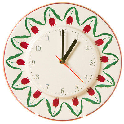 Kitchen Clock Red Tulip