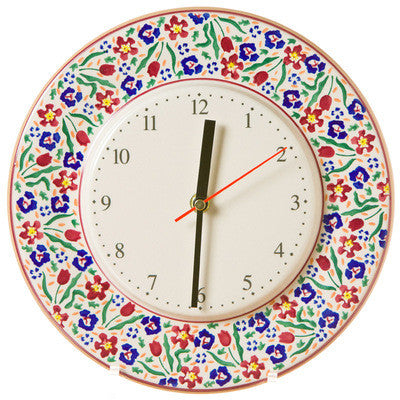 Kitchen Clock Wild Flower Meadow