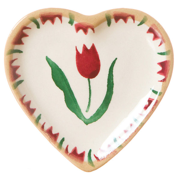 TINY HEART PLATE RED TULIP